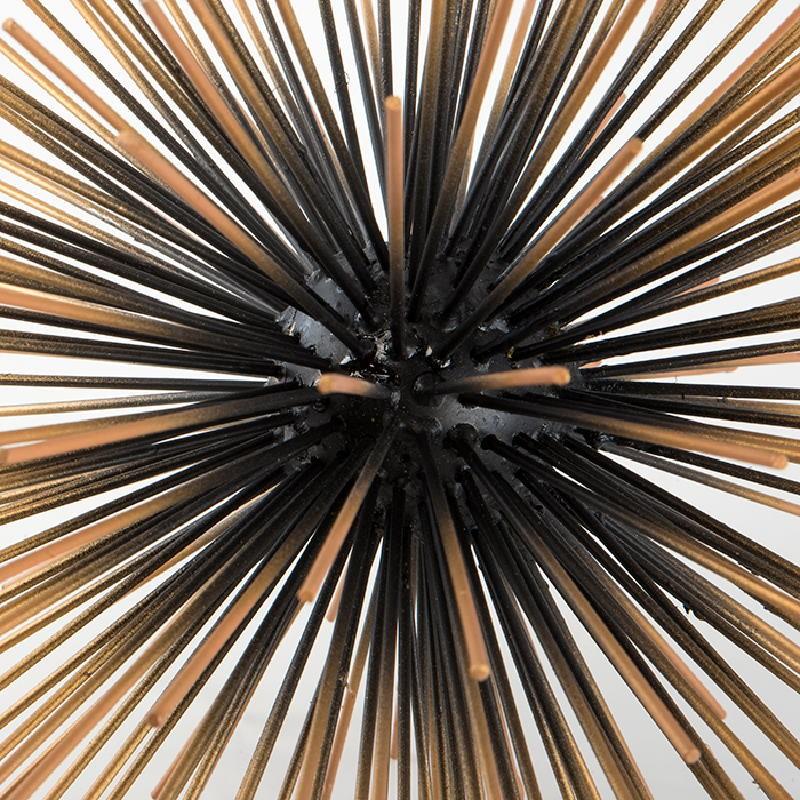 Table Centre Piece 28 Cm Metal Black Gold - image 53672