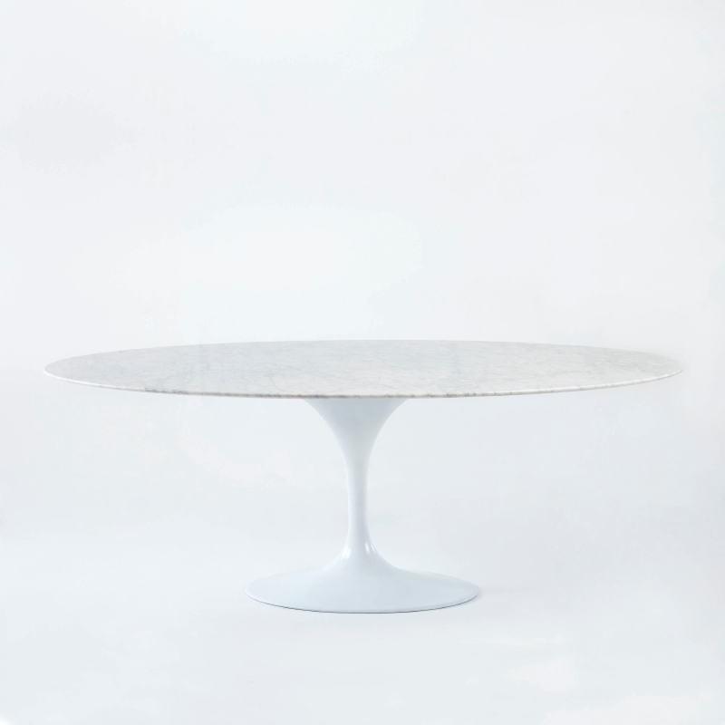 Table à Manger 200x120x73 Marbre Aluminium Blanc