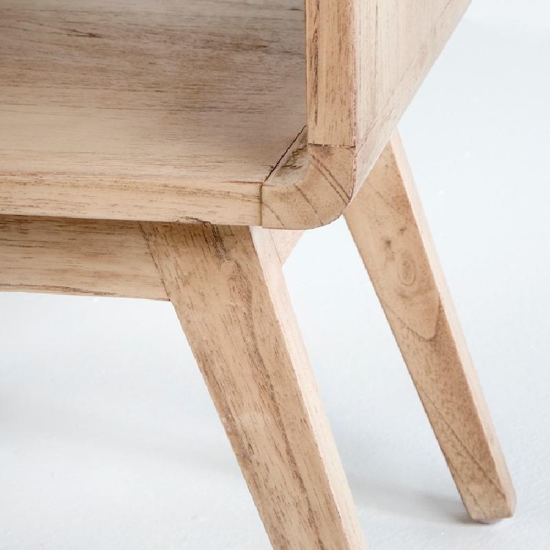 Table de chevet 50x35x51 Bois Naturel - image 53702