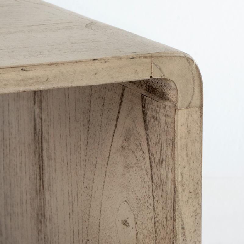 Nachttisch 50X35X51 Gebleichtes Graues Holz - image 53707