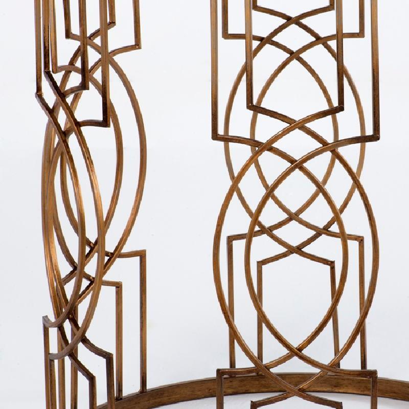 Table d'appoint, bout de canapé 51x51x62 Métal Doré Bois Noir - image 53711