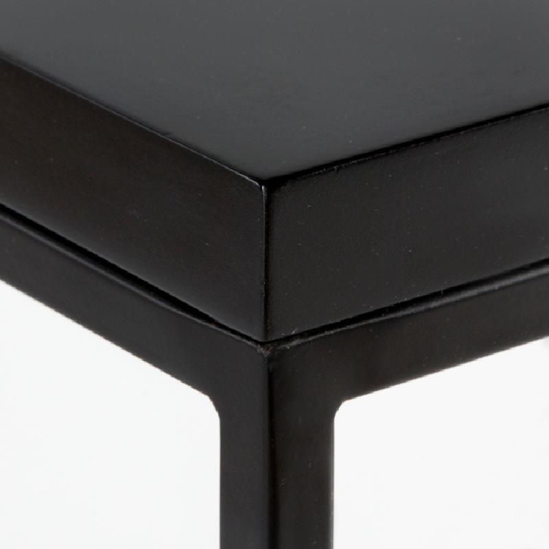 Table d'appoint, bout de canapé 48x48x70 Métal MDF Noir - image 53715