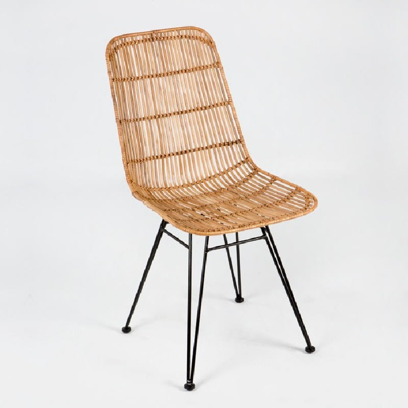 Chair 57X45X88 Metal Wicker Natural - image 53723