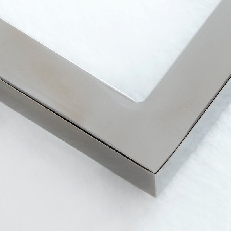 Table de chevet 50x40x54 Acier MDF Blanc - image 53738