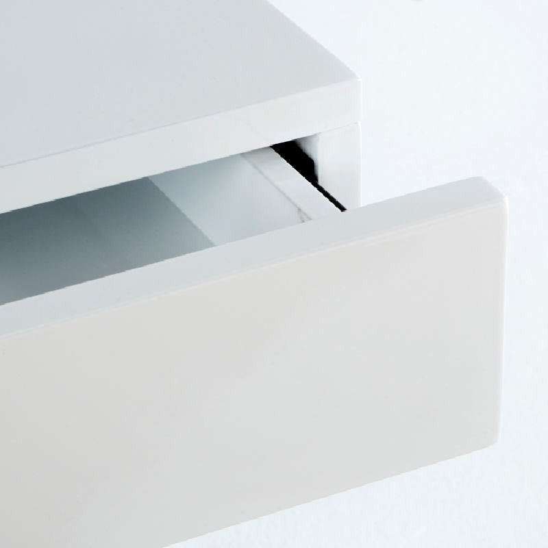 Bedside Table 50X40X54 Steel Mdf White - image 53739