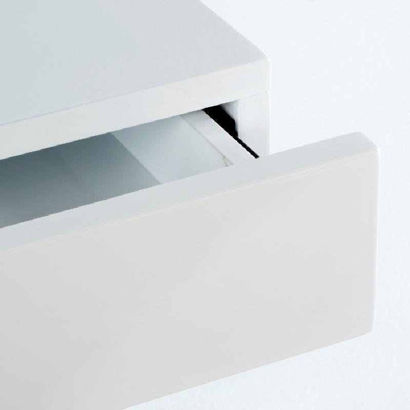 Table de chevet 50x40x54 Acier MDF Blanc - image 53739