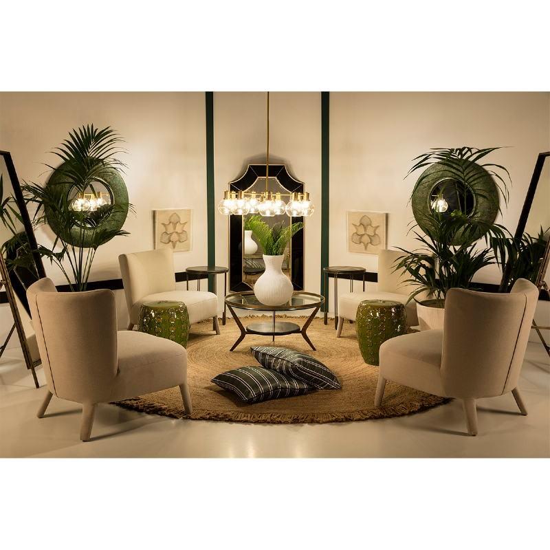 Specchio 86X5X86 Metallo Oro Verde - image 53743