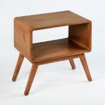 Bedside Table 50X35X51 Wood Natural Veiled