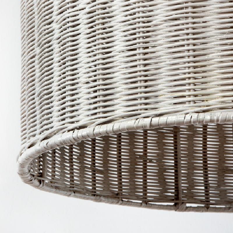 Lampe suspendue 60x60 Osier Blanc - image 53751