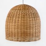 Lampe suspendue 60x60 Osier Naturel