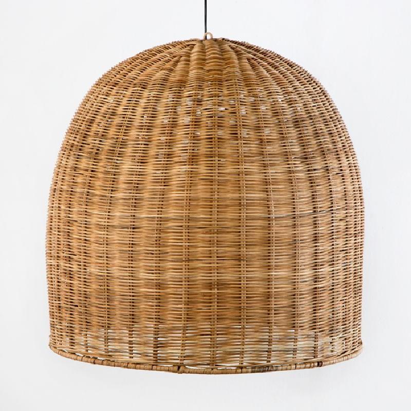 Lampe suspendue 60x60 Osier Naturel - image 53752