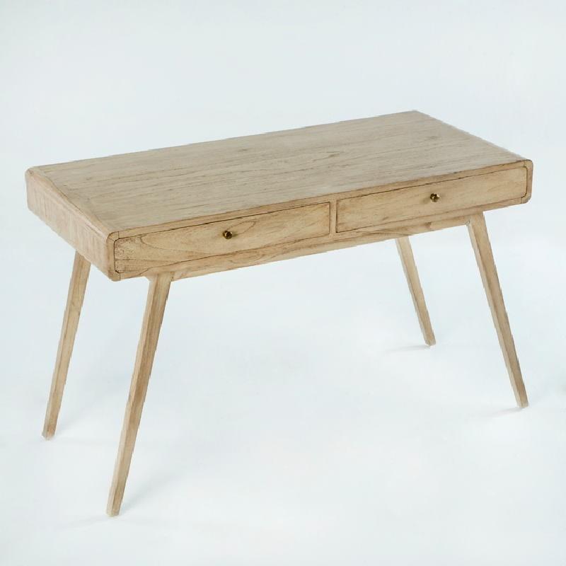 Desk 120X55X76 Wood White Veiled - image 53758
