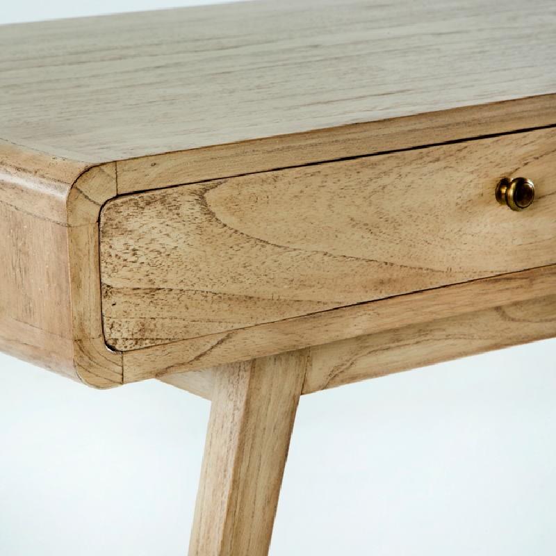 Desk 120X55X76 Wood White Veiled - image 53761