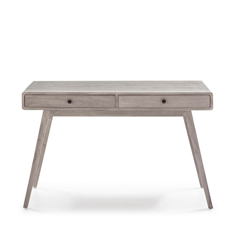 Schreibtisch 120X55X76 Verschleiertes Graues Holz - image 53765