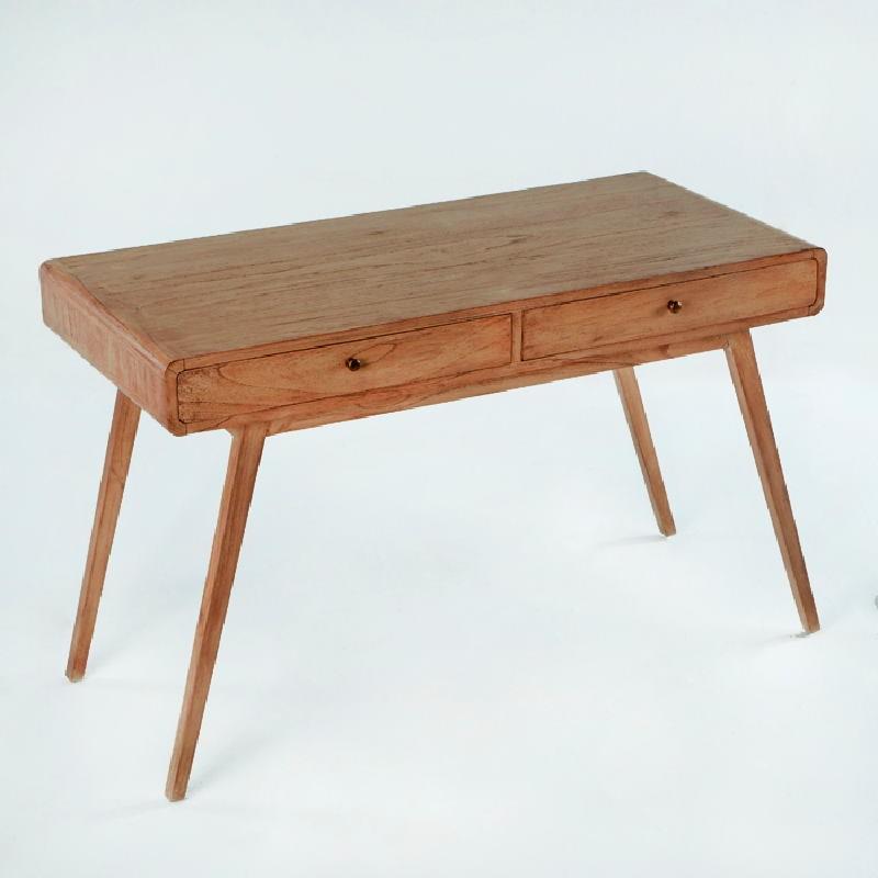 Desk 120X55X76 Wood Natural Veiled