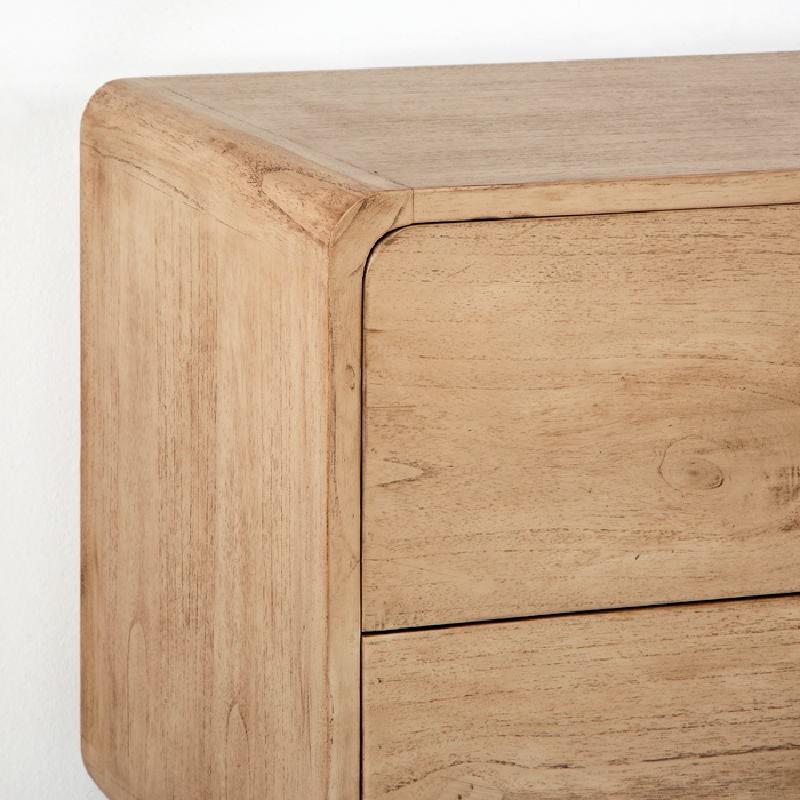 Sideboard 200X50X75 Wood White Veiled - image 53781