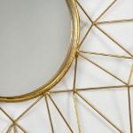 Spiegel 80X4X80 Metall Golden