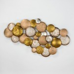 Sculpture 127X8X76 Metal Silver Gold Copper