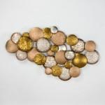 Wandskulptur 127X8X76 Metall Silber Gold Kupfer