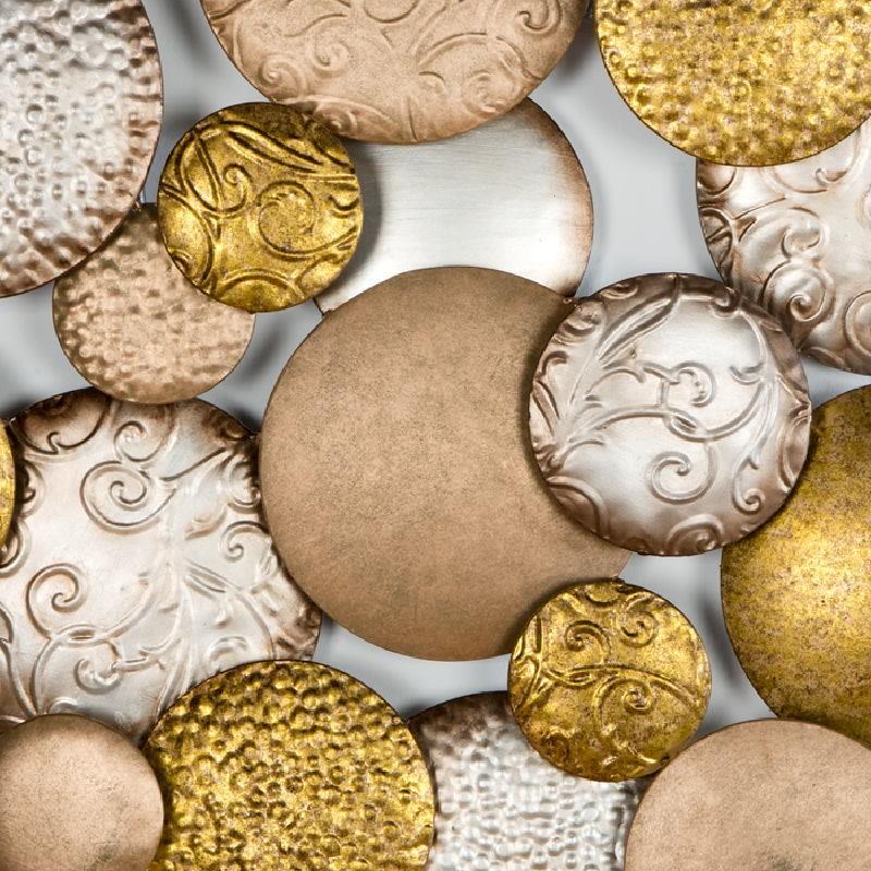 Scultura 127X8X76 Metallo Argento Oro Rame - image 53799