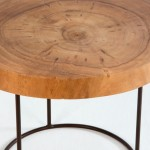 Auxiliary Table 50X50X38 Aprox. Metal Wood Natural