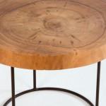 Table d'appoint, bout de canapé 50x50x38 aprox. Métal Bois Naturel