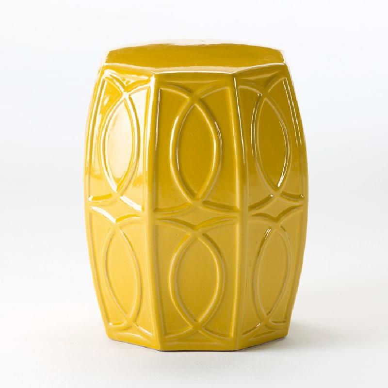 Taburete 38X45 Ceramica Amarillo