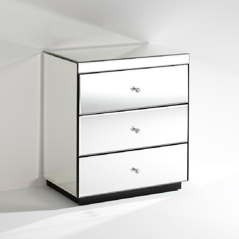 Nachttisch 3 Schubladen 60X40X70 Spiegel
