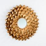Spiegel 73X5X73 Metall Gold