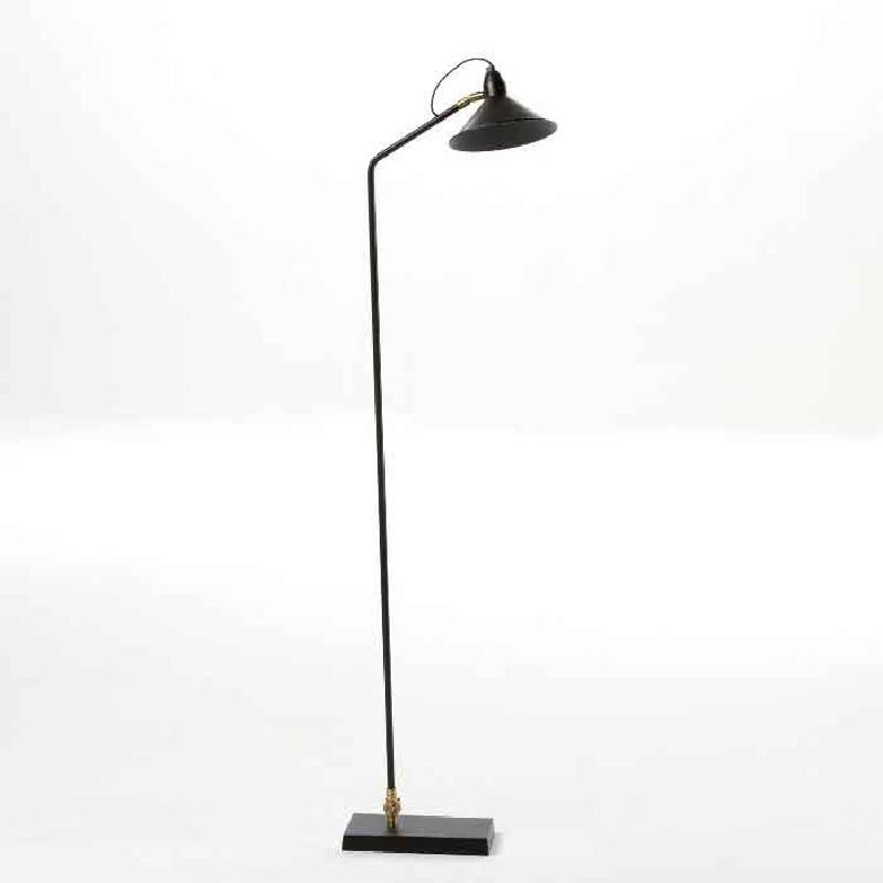 Standard Lamp With Lampshade 26X19X136 Metal Black