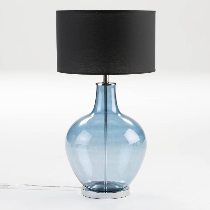 Lampada Da Tavolo Senza Paralume 34X57 Vetro Blu - image 53842