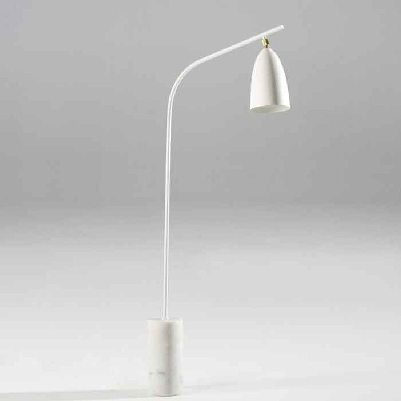 Lámpara De Pie Con Pantalla 62X15X150 Mármol Metal Blanco