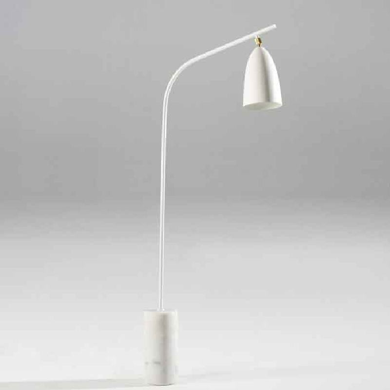 Standard Lamp With Lampshade 62X15X150 Marble Metal White