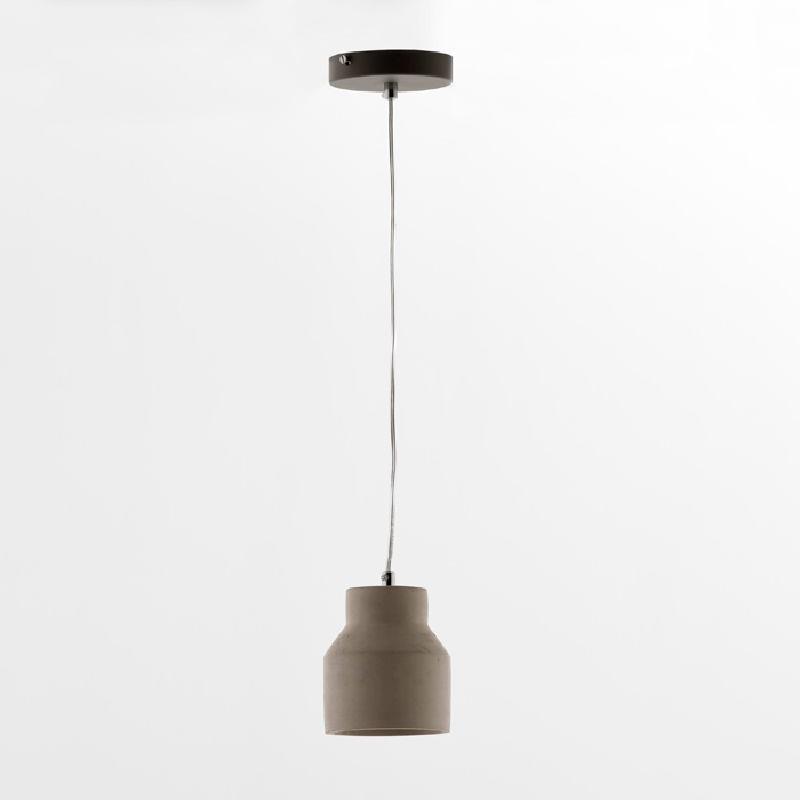 Lampada A Sospensione Con Paralume 12X14 Cemento Grigio