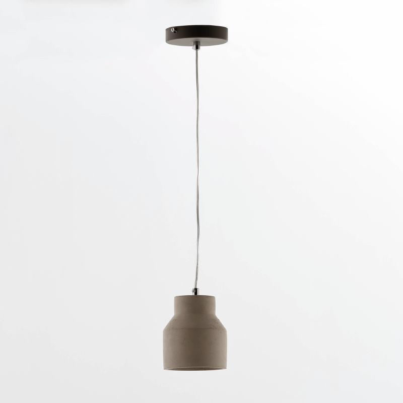 Lampe suspendue avec abat-jour 12x14 Ciment Gris - image 53859