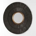 Espejo 105X3X105 Metal Marron Oro