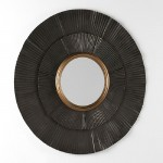 Mirror 105X3X105 Metal Brown Gold