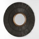 Specchio 105X3X105 Metallo Marrone Oro