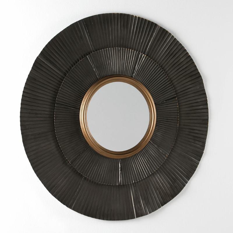 Specchio 105X3X105 Metallo Marrone Oro - image 53930