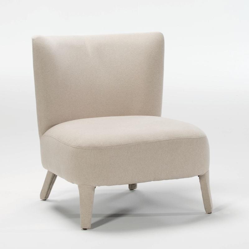 Armchair 76X79X86 Wood Fabric Beige - image 53943
