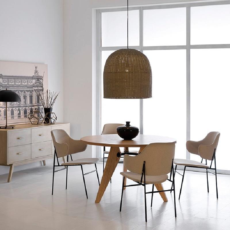 Chair 52X58X78 Metal Black Fabric Beige - image 53946