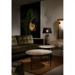 Fernsehschrank 160X45X50 Metall/Holz Gold/Weiß