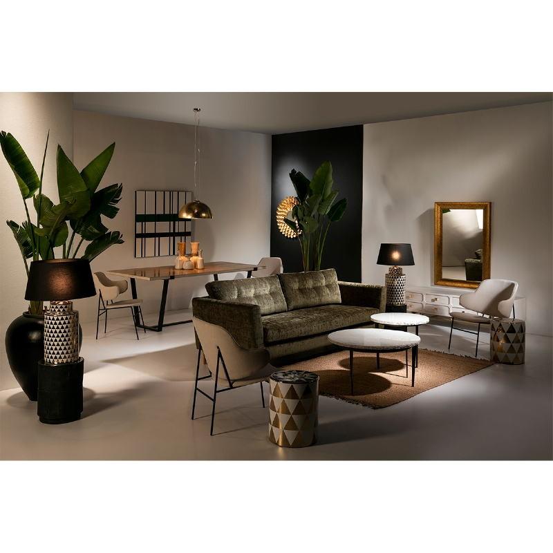 Tv Furniture 160X45X50 Metal Gold Wood White - image 53959