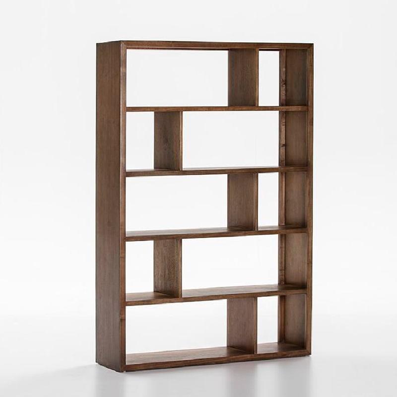Shelf 120X34X180 Wood Natural Veiled