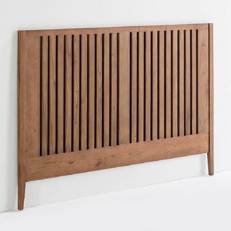 Headboard 162X3X110 Wood Natural Veiled