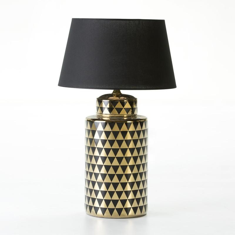 Lampe Auf Tisch Ohne Bildschirm 23X23X51 Keramik Golden/Schwarz - image 54001