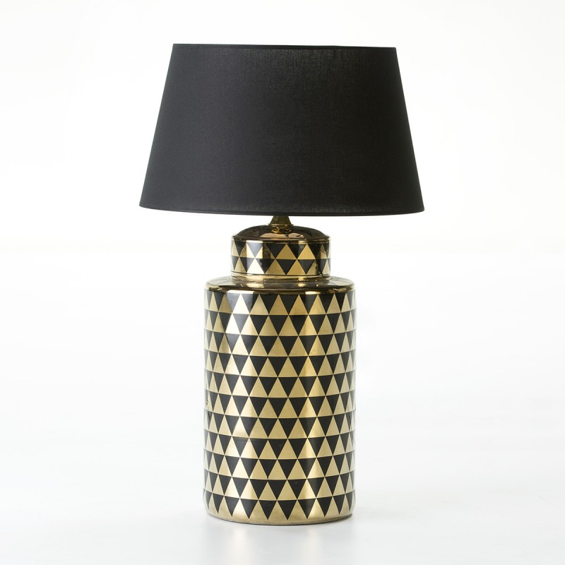 Table Lamp Without Lampshade 23X23X51 Ceramic Golden Black