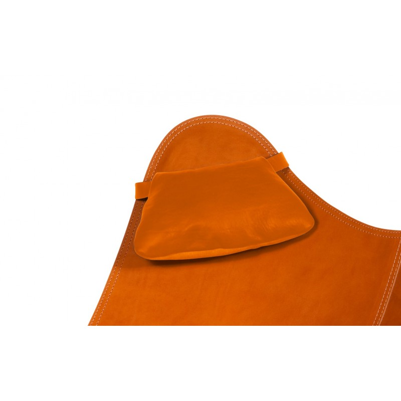 A removable headrest for Italian leather armchair BUTTERFLY (gold brown) - image 54007