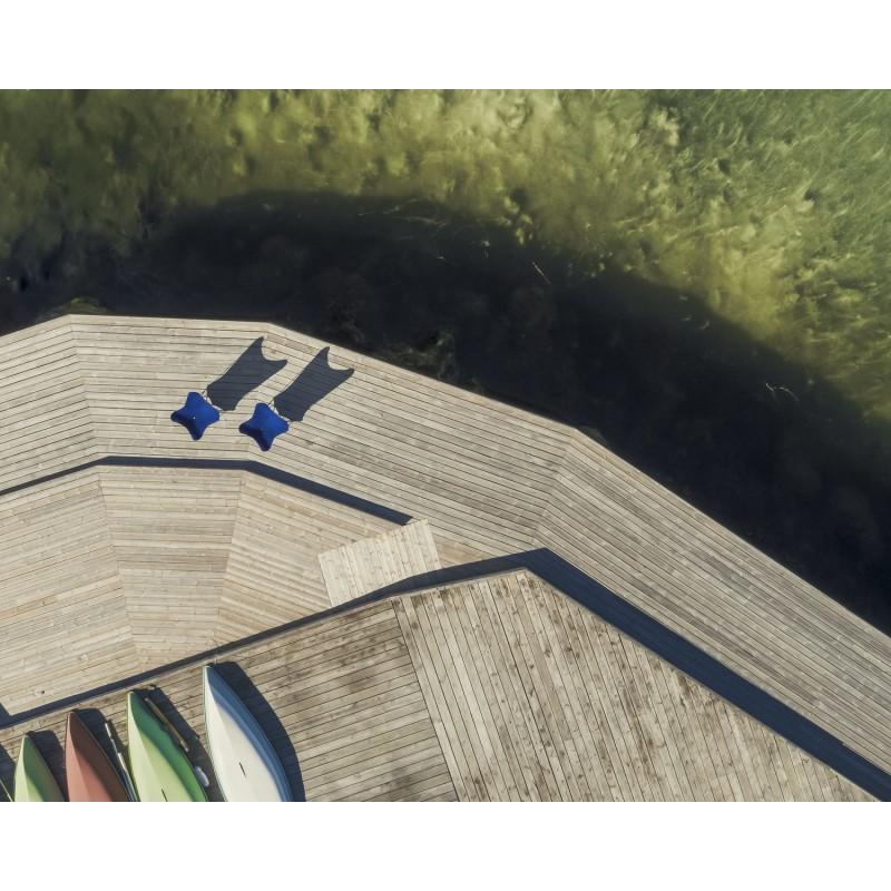Garten Schmetterling Sessel aus Stoff Sumbrella SUNSHINE MARIPOSA Fuß Schwarz Metall (atlantisches Blau) - image 54107