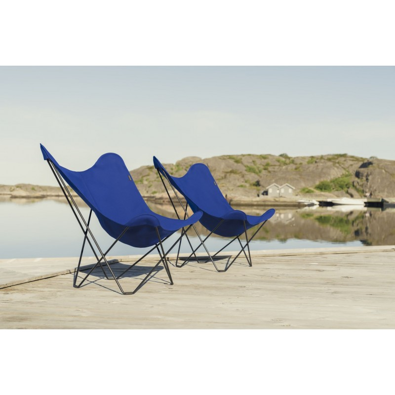 Garten Schmetterling Sessel aus Stoff Sumbrella SUNSHINE MARIPOSA Fuß Schwarz Metall (atlantisches Blau) - image 54109